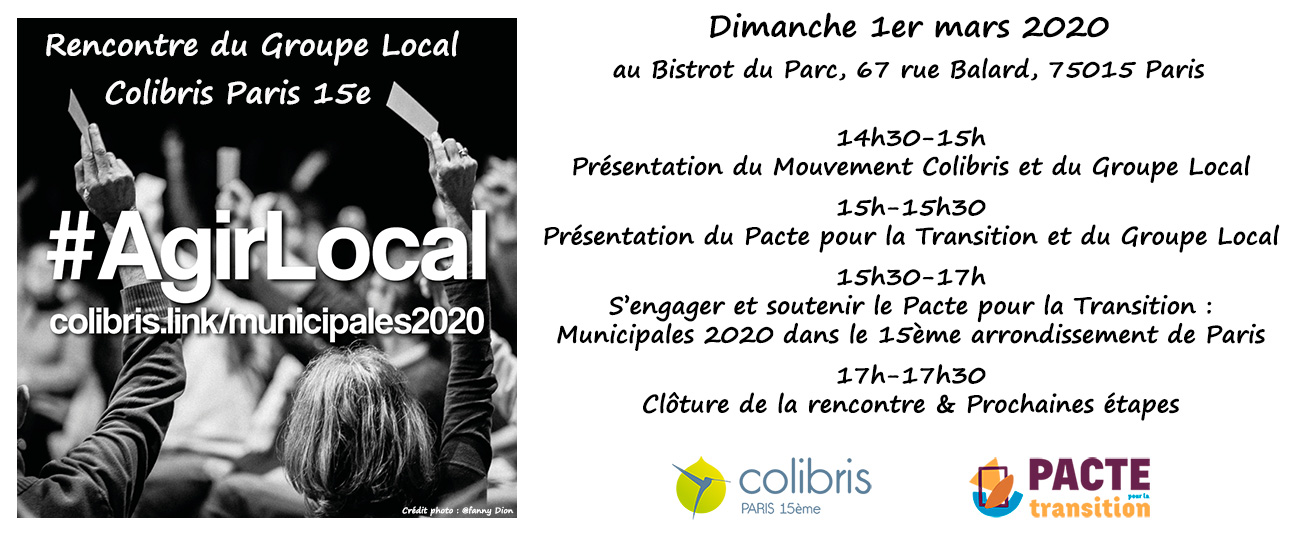 Rencontre du Groupe Local - Mars 2020